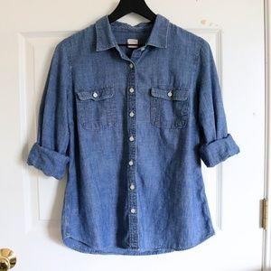 "Size Medium J. Crew Chambray ""Perfect Shirt"""